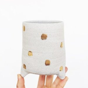 Gold Dot Small Planter
